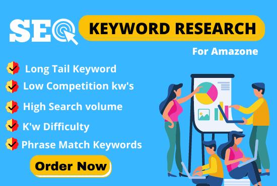 I wiil do profitable seo keyword research for amazone niche site