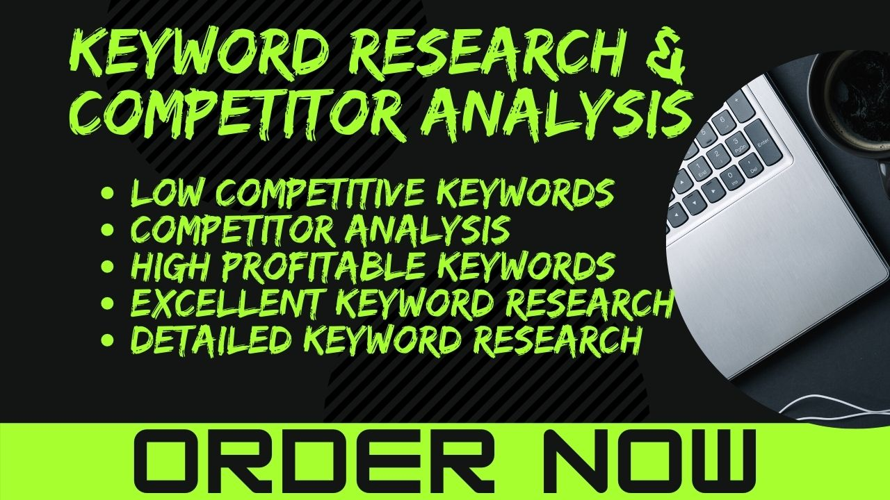 I will find you low competitive,  high traffic,  profitable keywords