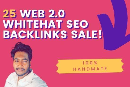 Provide Handmate 25 Web 2.0 Whitehat backlinks