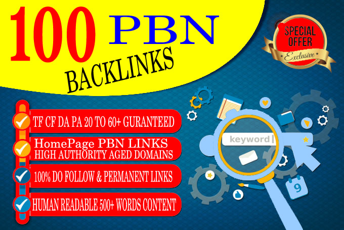 Build 100 High Quality permanent Dofollow SEO homepage PBN backlinks