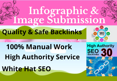 50 Infographic image submission high authority low spam score sharing website permanent dofollow