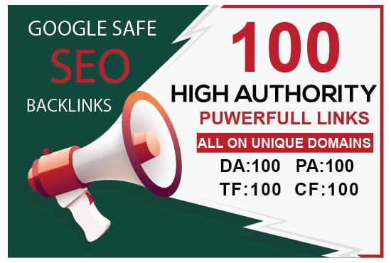 MANUALLY Do 100 UNIQUE PR10 SEO BackIinks on DA100 sites