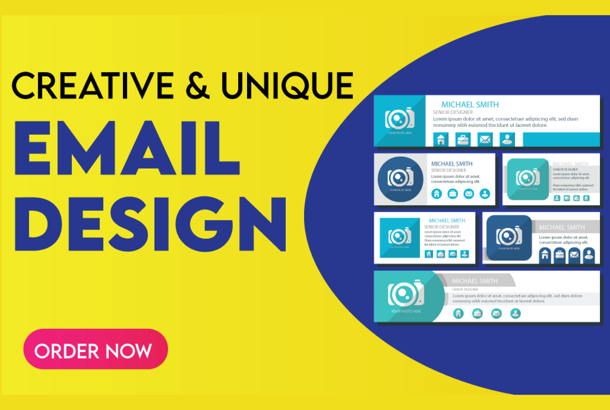 design a stunning mail chimp email,  newsletter template