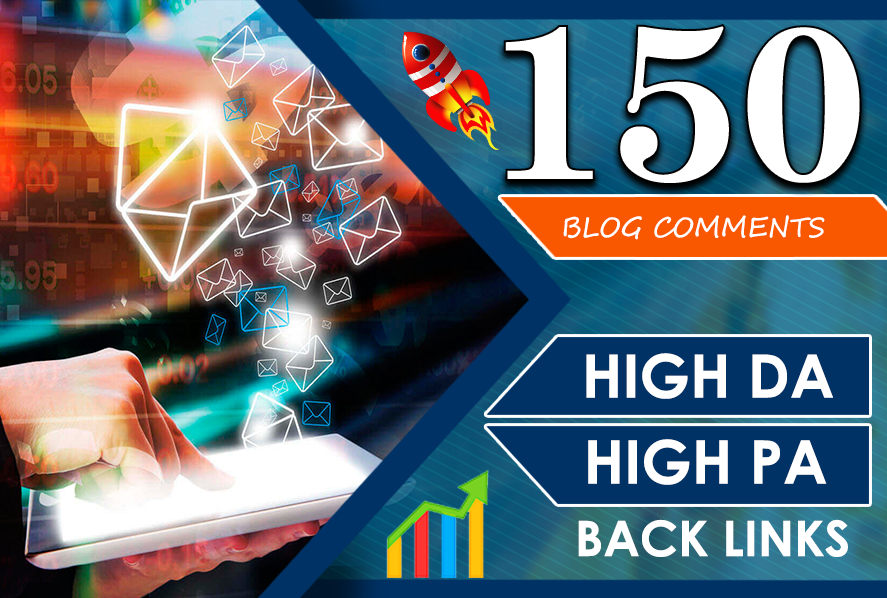 I will do 150 high quality dofollow blog comments backlinks Domain Authority 30 plus