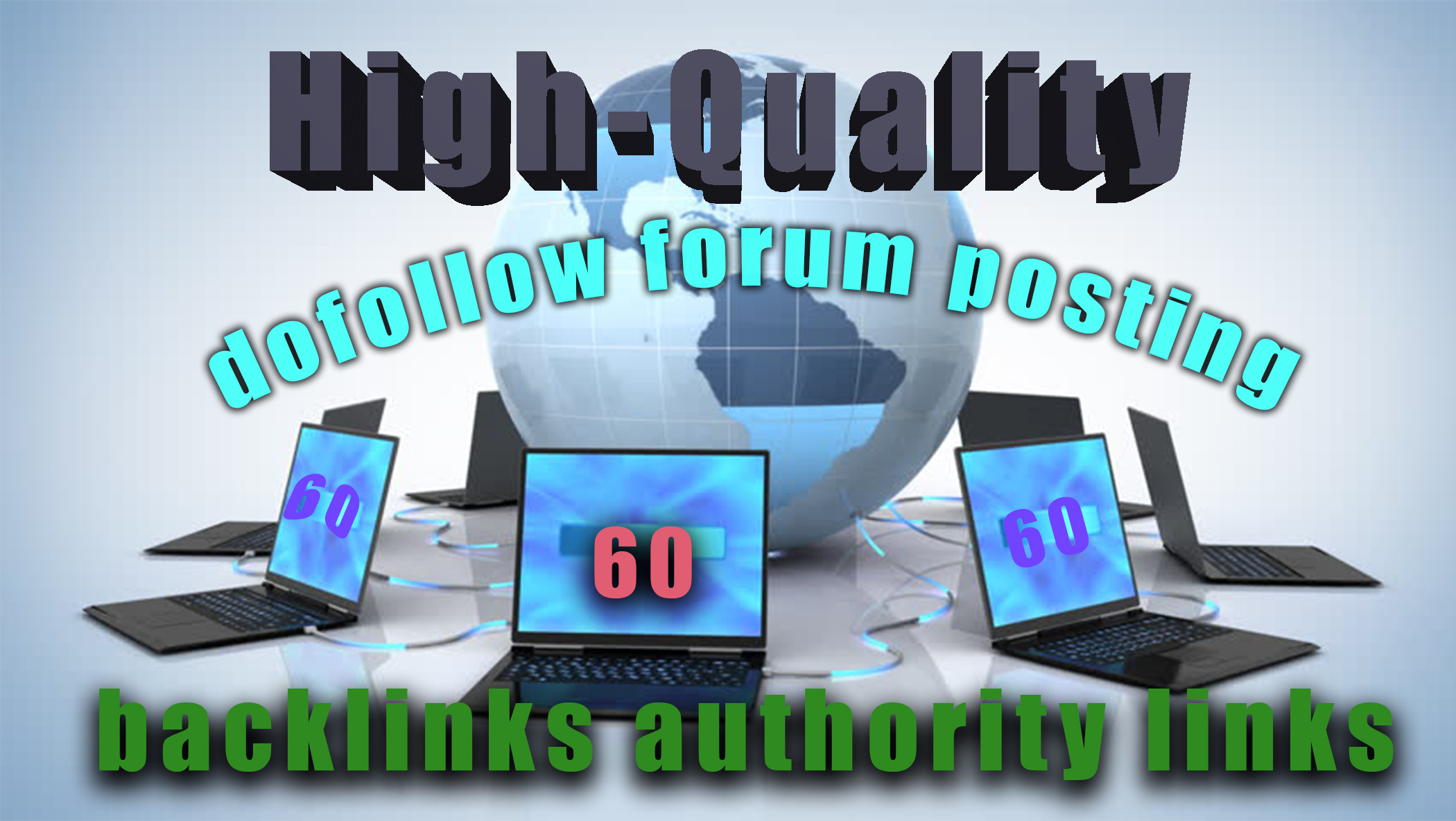 I will create 60 dofollow forum posting backlinks authority links