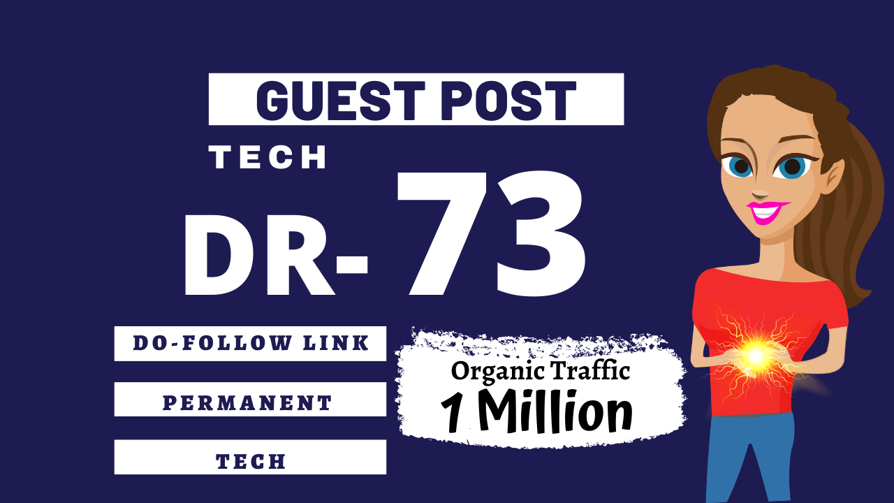 I will publish tech guest post high DR 73 with dofollow backlinks