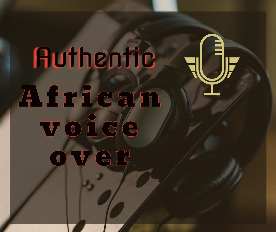 I will record an authentic african male voice over.