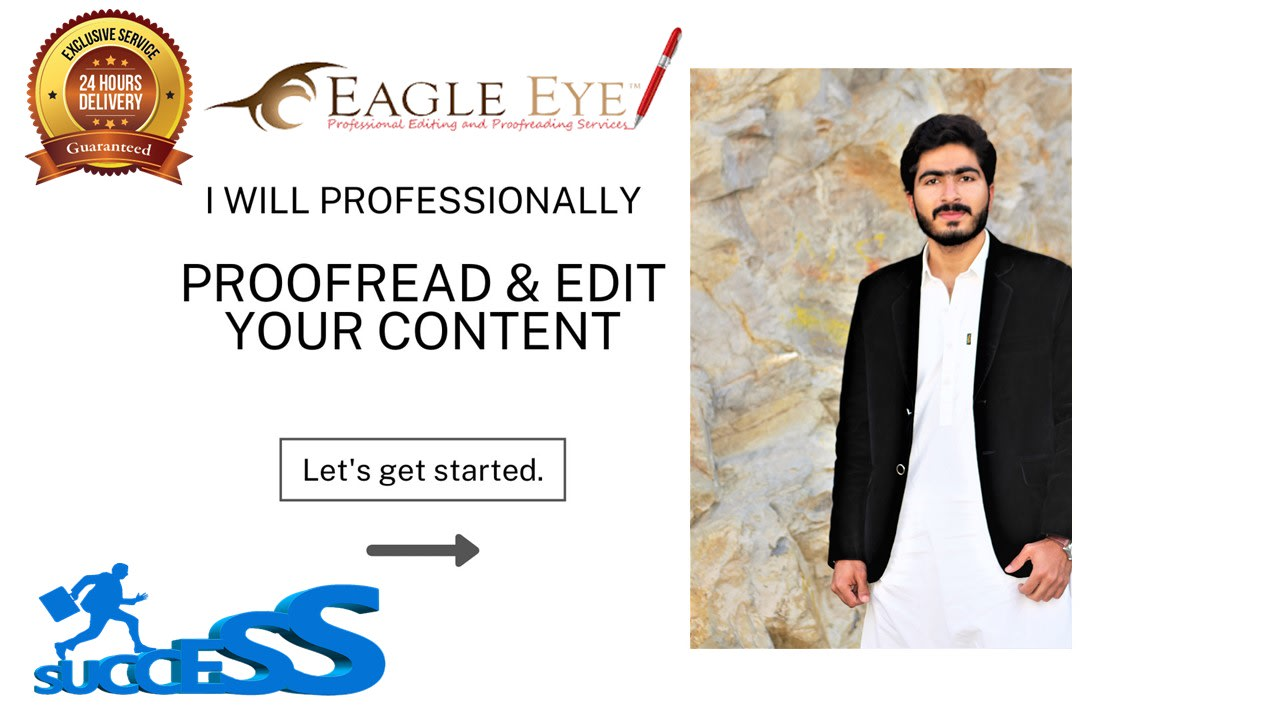 I will do proof reading,  edit and correct your content