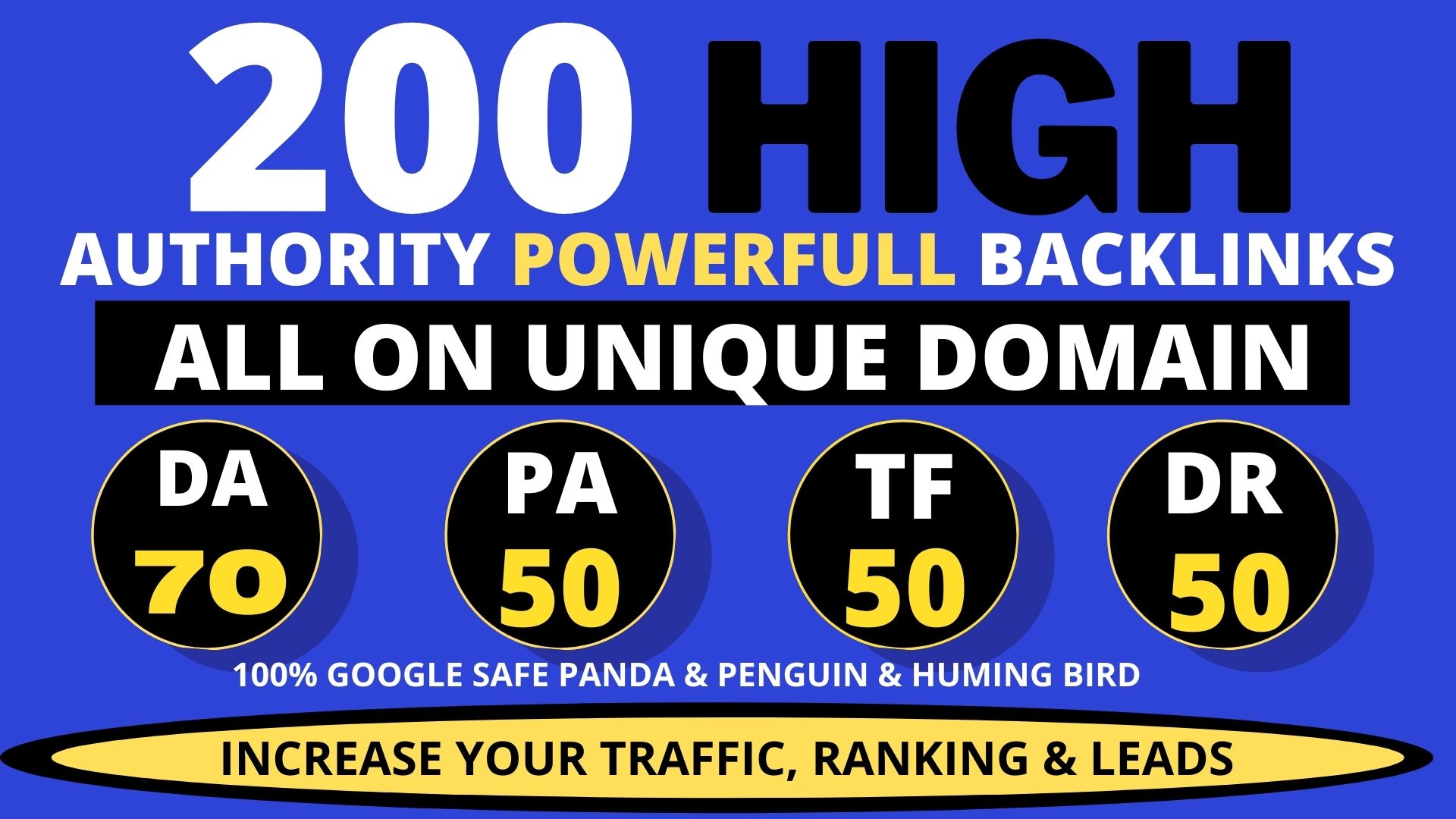 Create 200+ Backlink with high DA PA with Unique website