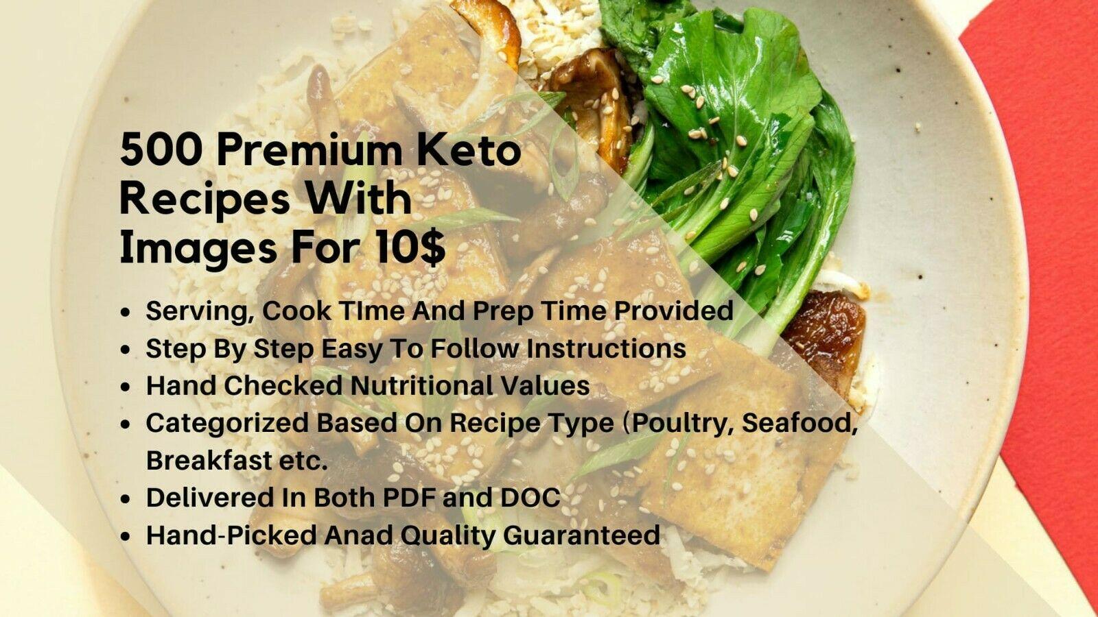 500 premium keto recipes with pictures
