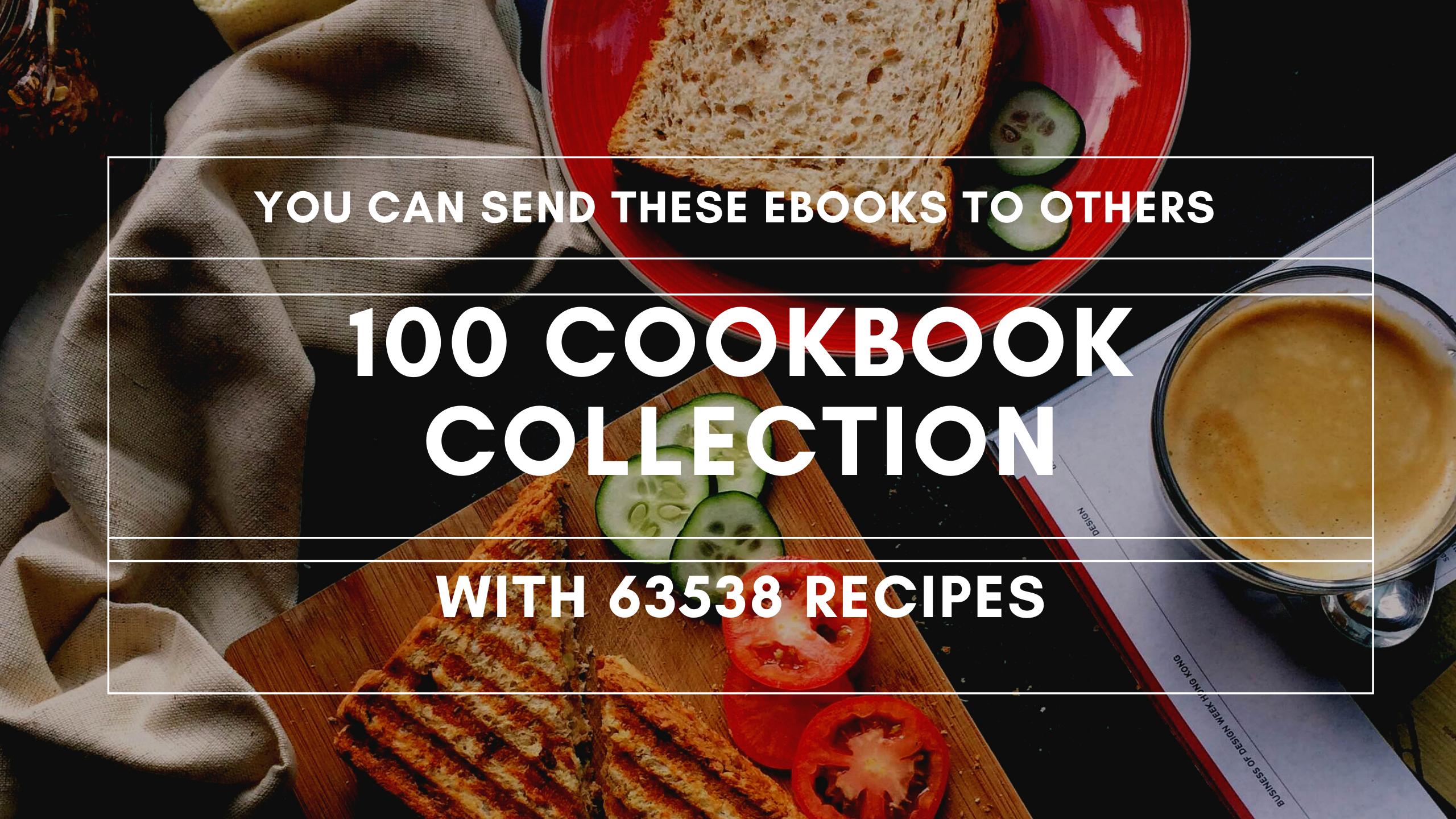 Send you 100 cookbooks with 63538 recipes