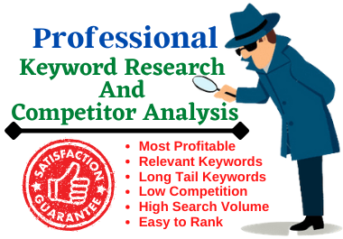 keyword research for SEO and competitor analysis for google top ranking