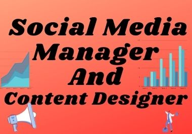 I will be your personal professional social media manager and content designer