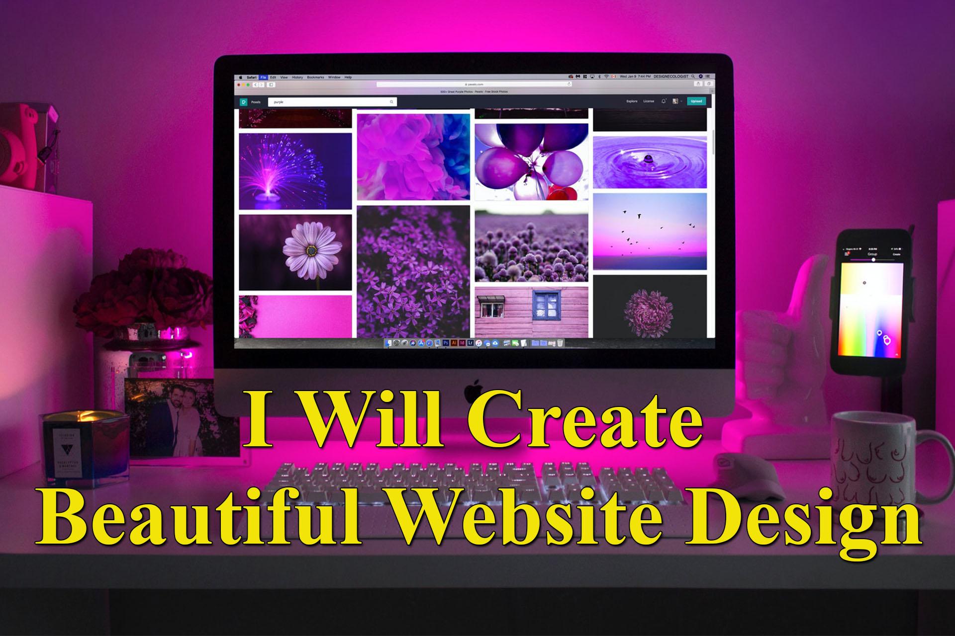 I Will Design Beautiful Responsive Website