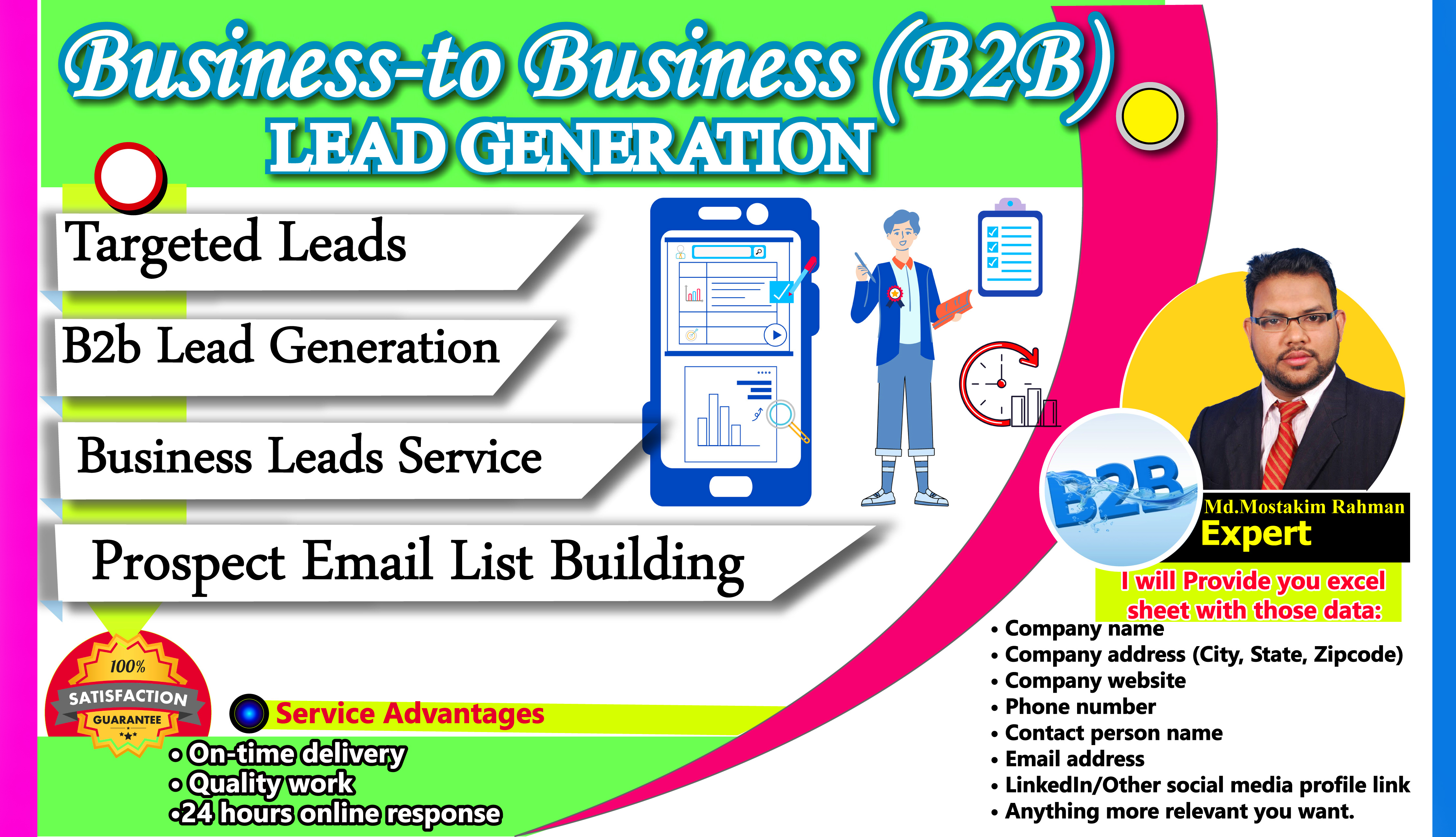 I will do B2B lead generation email address,  contract details of Similar business