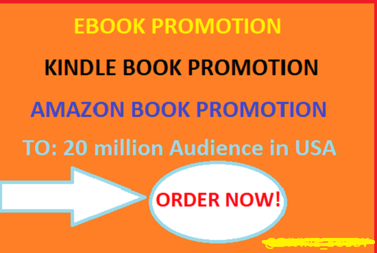 I will promote your kindle ebook on social media and my high traffic websiteI will promote your kind