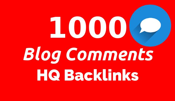 5 x Order - 1000 Blog Comments HQ Backlinks for SEO on Google GSA SER Blast
