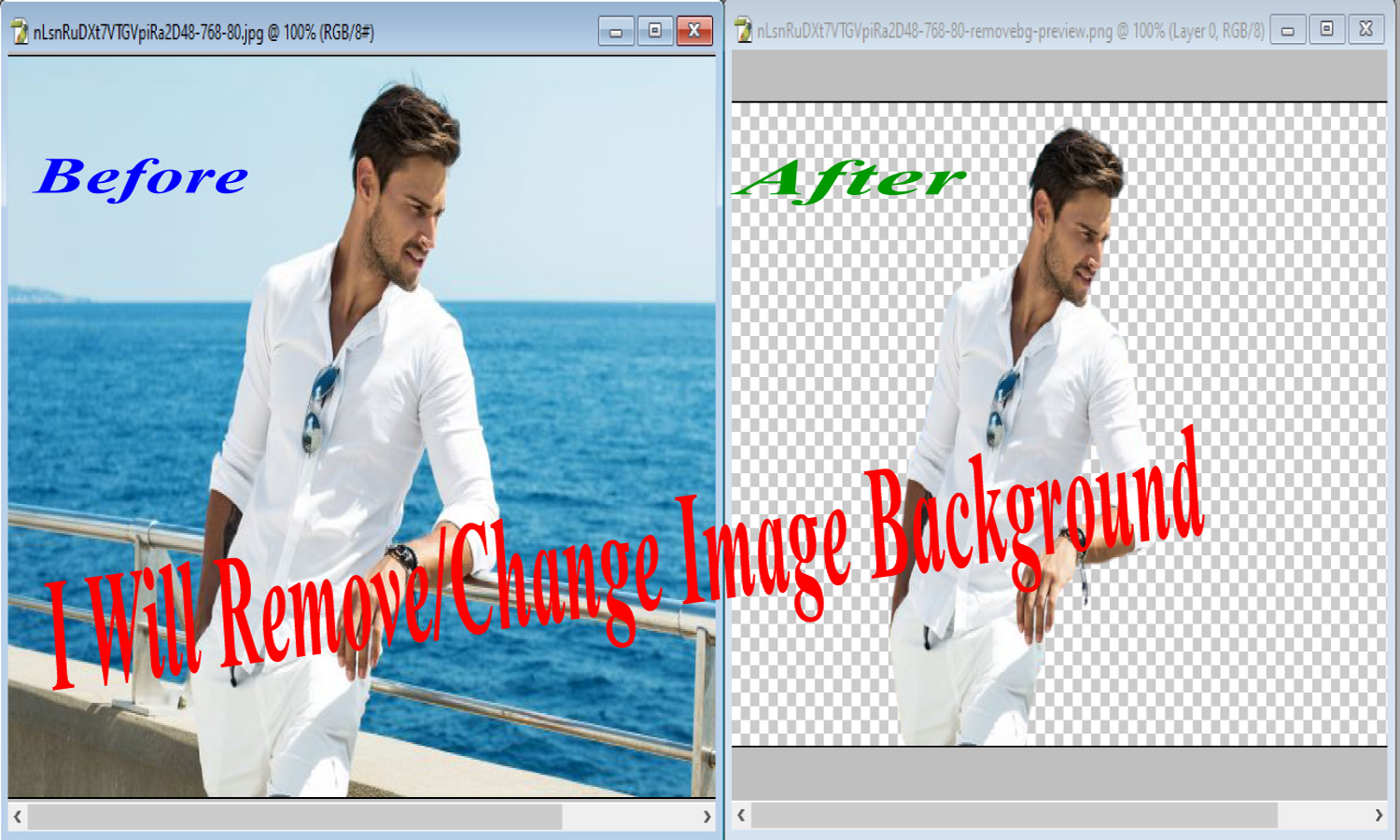 I will remove background for your 10 image in 2 hours