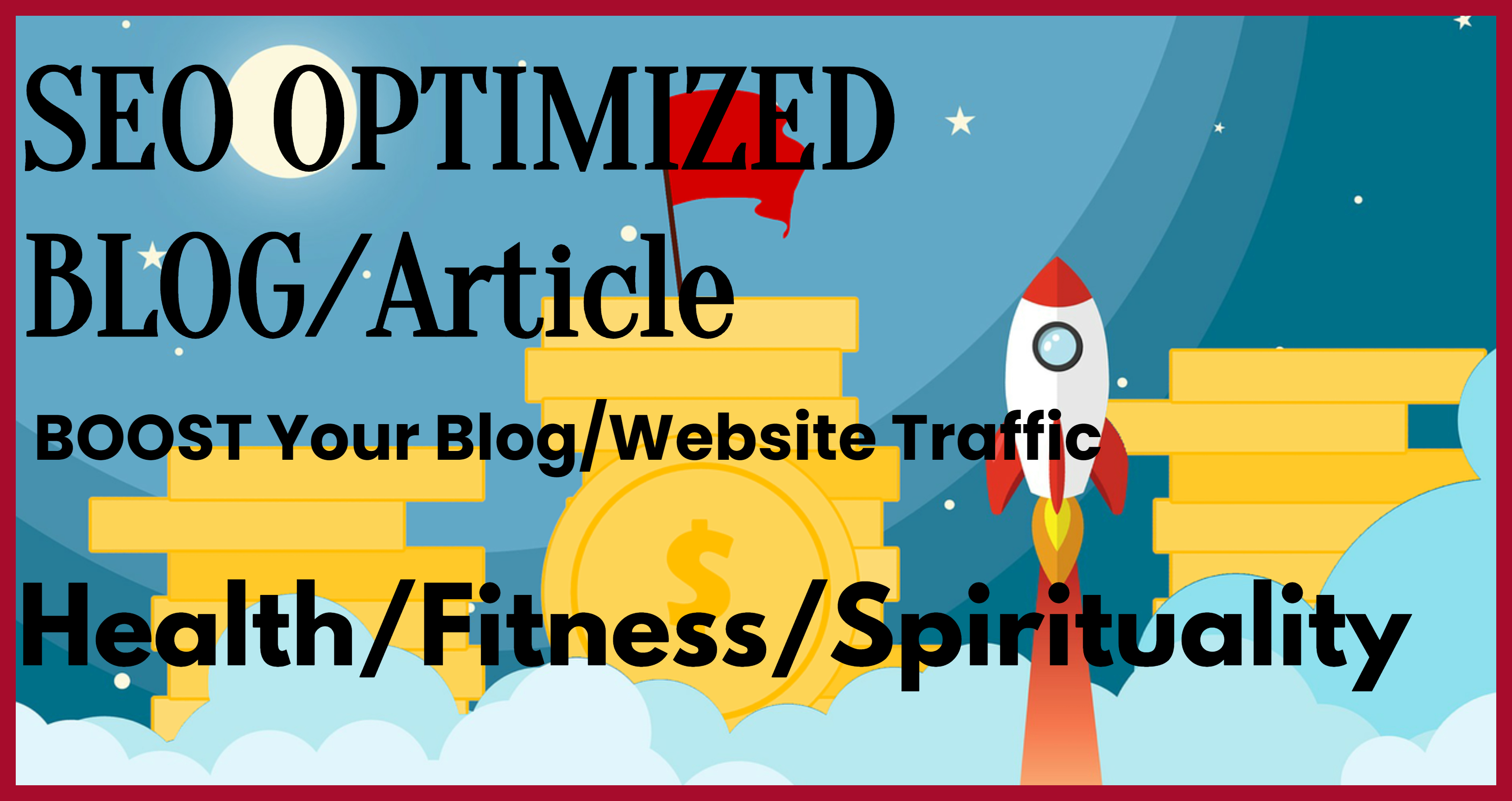 I will write you SEO optimized article or blog post