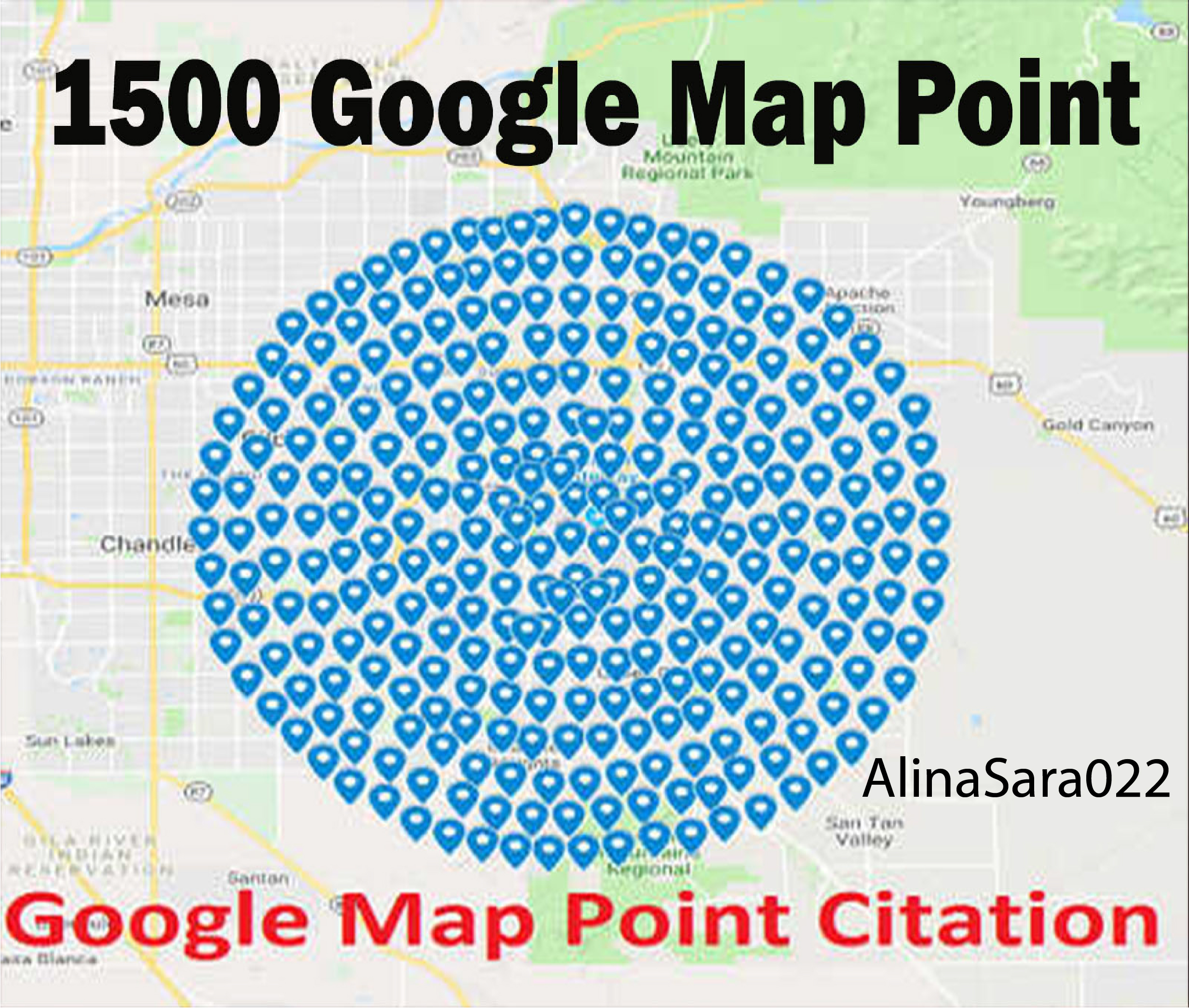 create 1500 google point map citation for Business local SEO