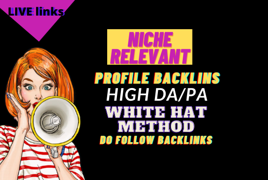 i will do 50 do follow profile backlinks with high DA/PA