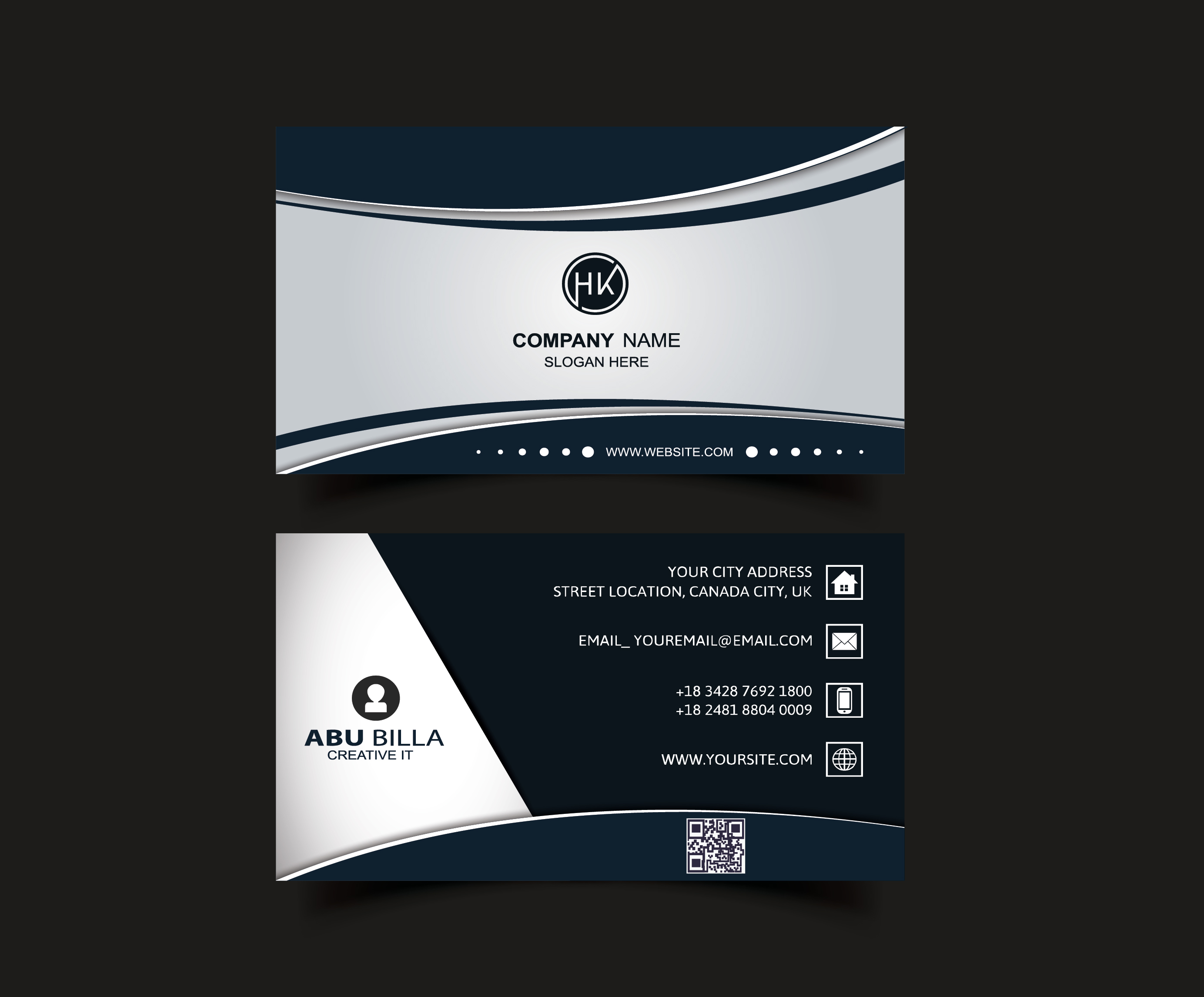 Design professional 2 sided business card + unlimited Revisions