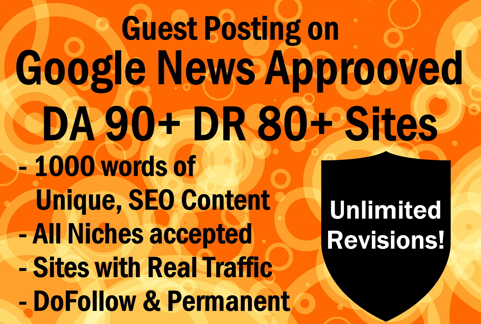 10 Guest Post on DA90+ Google News Approved Sites