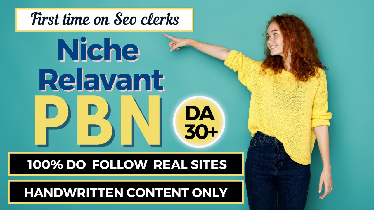 Get FIVE Niche Relevant Do follow PBN for Rapid results with DA 30+ Real Sites