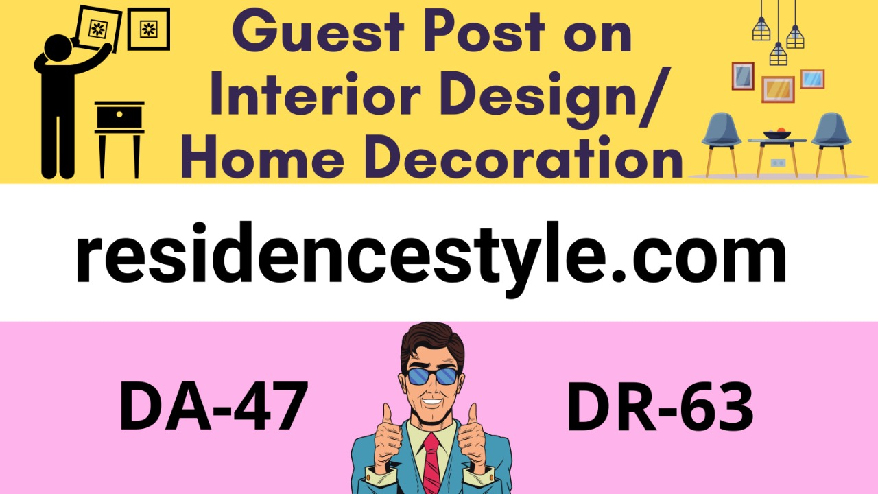 Get a guest post on Real home improvement Blog with DA47 and DR63 for massive traffic