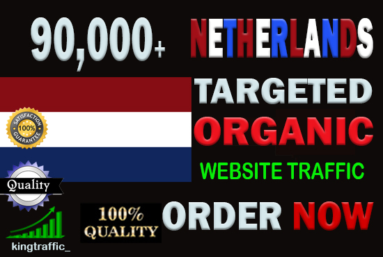 90,000 Active Quality Dutch web visitors real targeted Genuine Organic web traffic from Netherlands