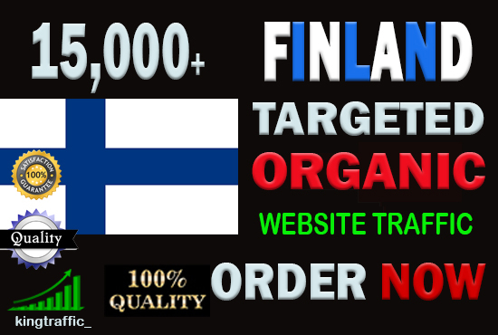 15,000 High Quality Finnish web visitors real targeted Genuine web traffic from Finland