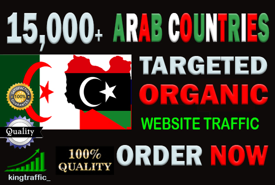 15,000 High Quality Arab web visitors real targeted Genuine Organic web traffic from Arab countries
