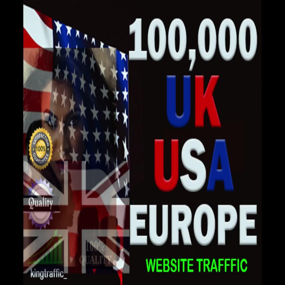 100,000 High quality UK, USA, Europe keyword target website traffic