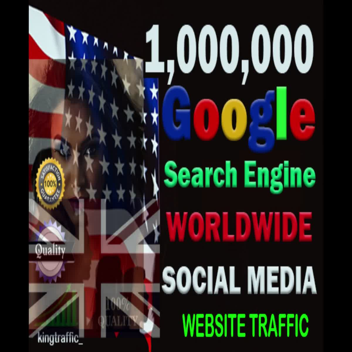1,000,000 Worldwide Organic Web Traffic from Search Engine and Social Media