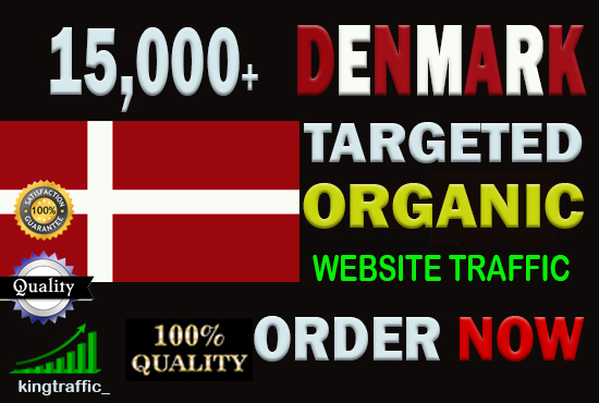 15,000 High Quality Danish web visitors real targeted Genuine Organic web traffic from Denmark