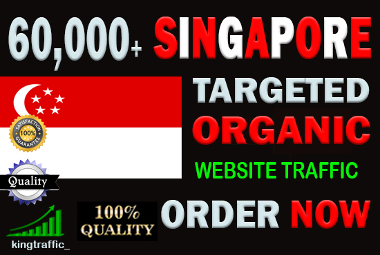 60,000 High Quality Singaporean web visitors real targeted Genuine web traffic from Singapore