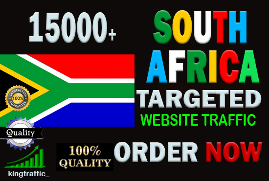 15,000 Active Quality South African visitors real targeted Genuine web traffic from South Africa