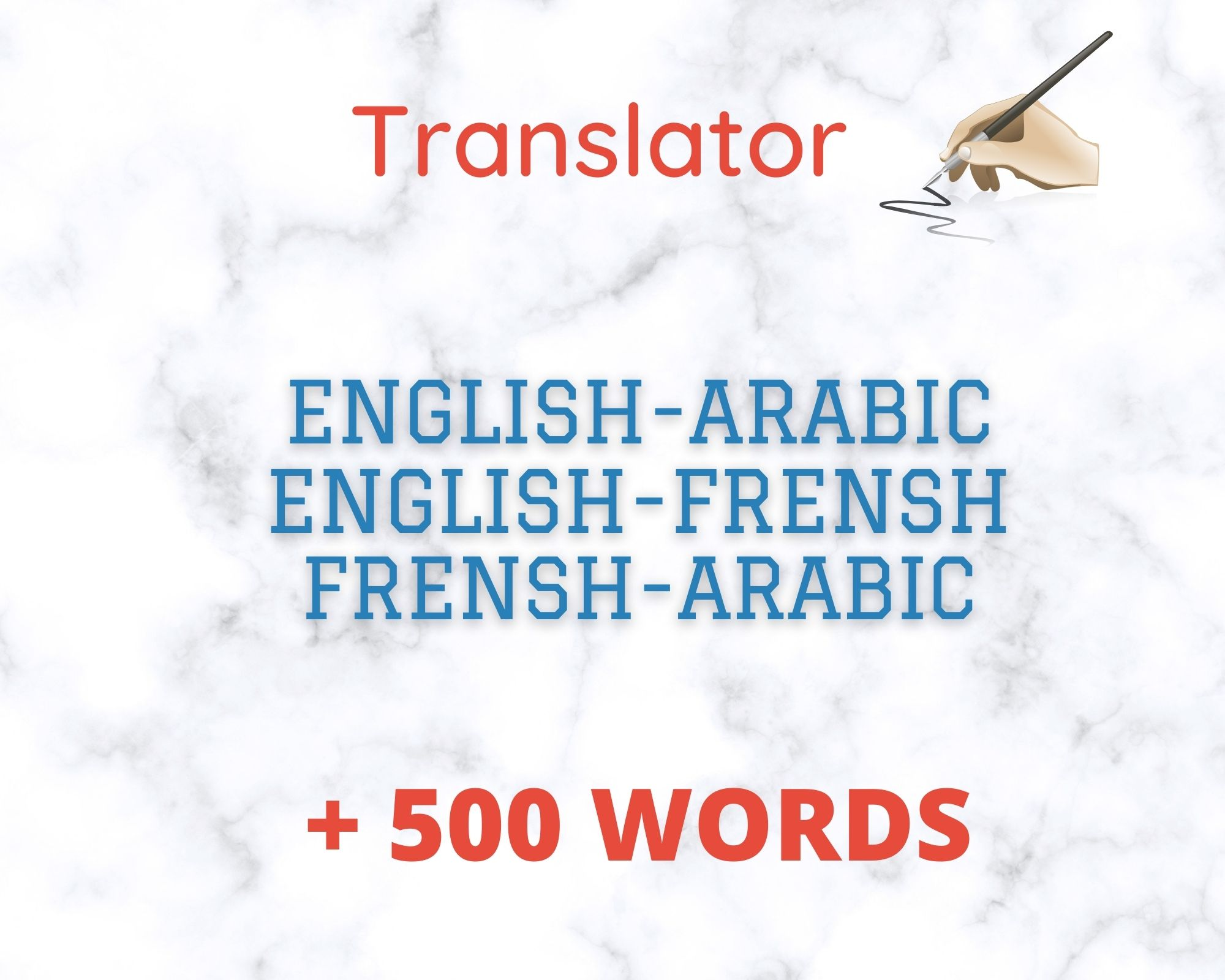 Very good quality of translation of articles in different topics into English-French-Ar