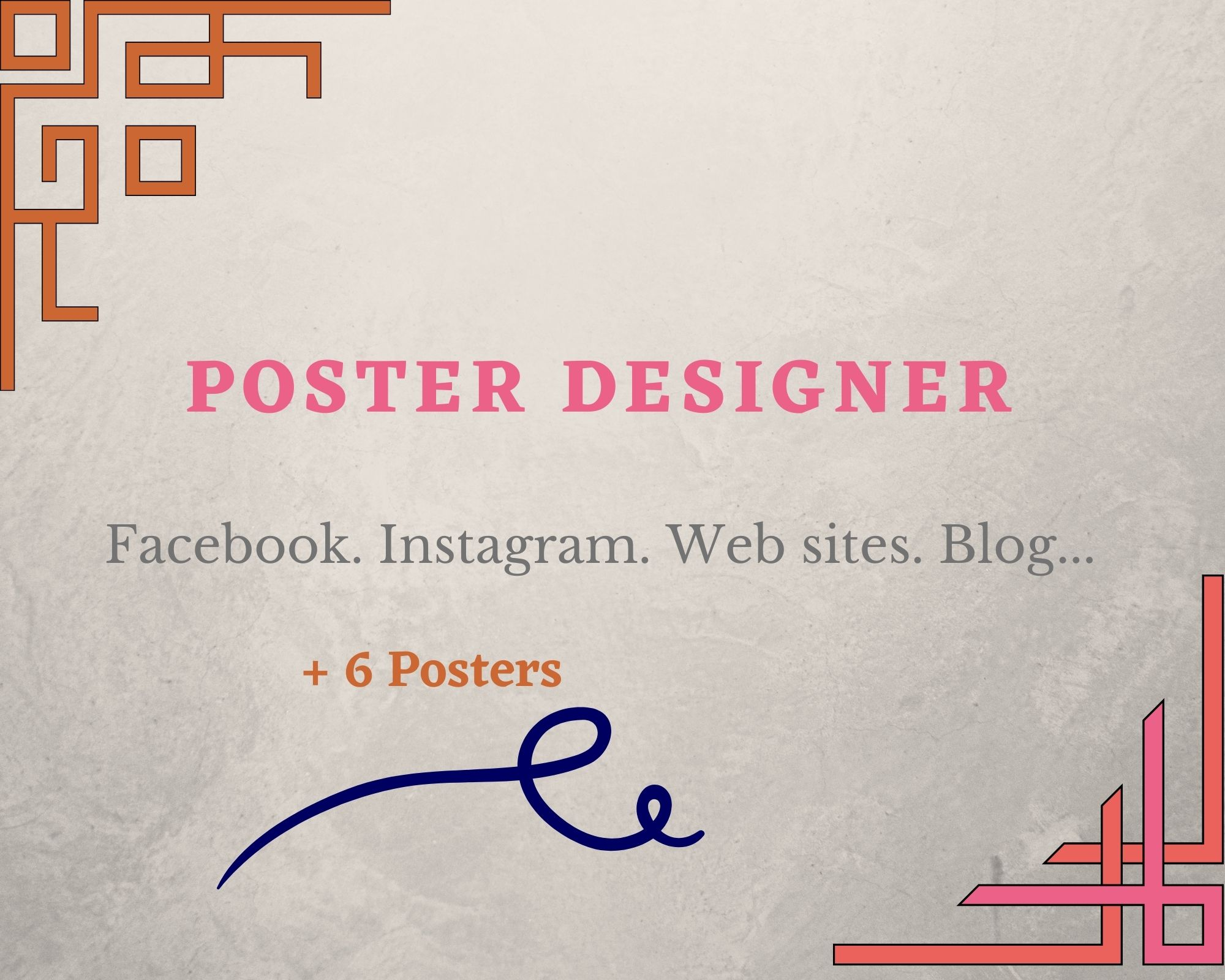 Professional Poster designer 6 posters for the Price of one