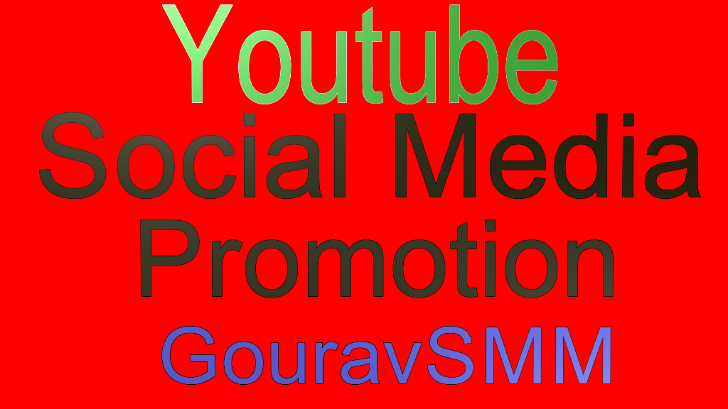YouTube video and social media promoters