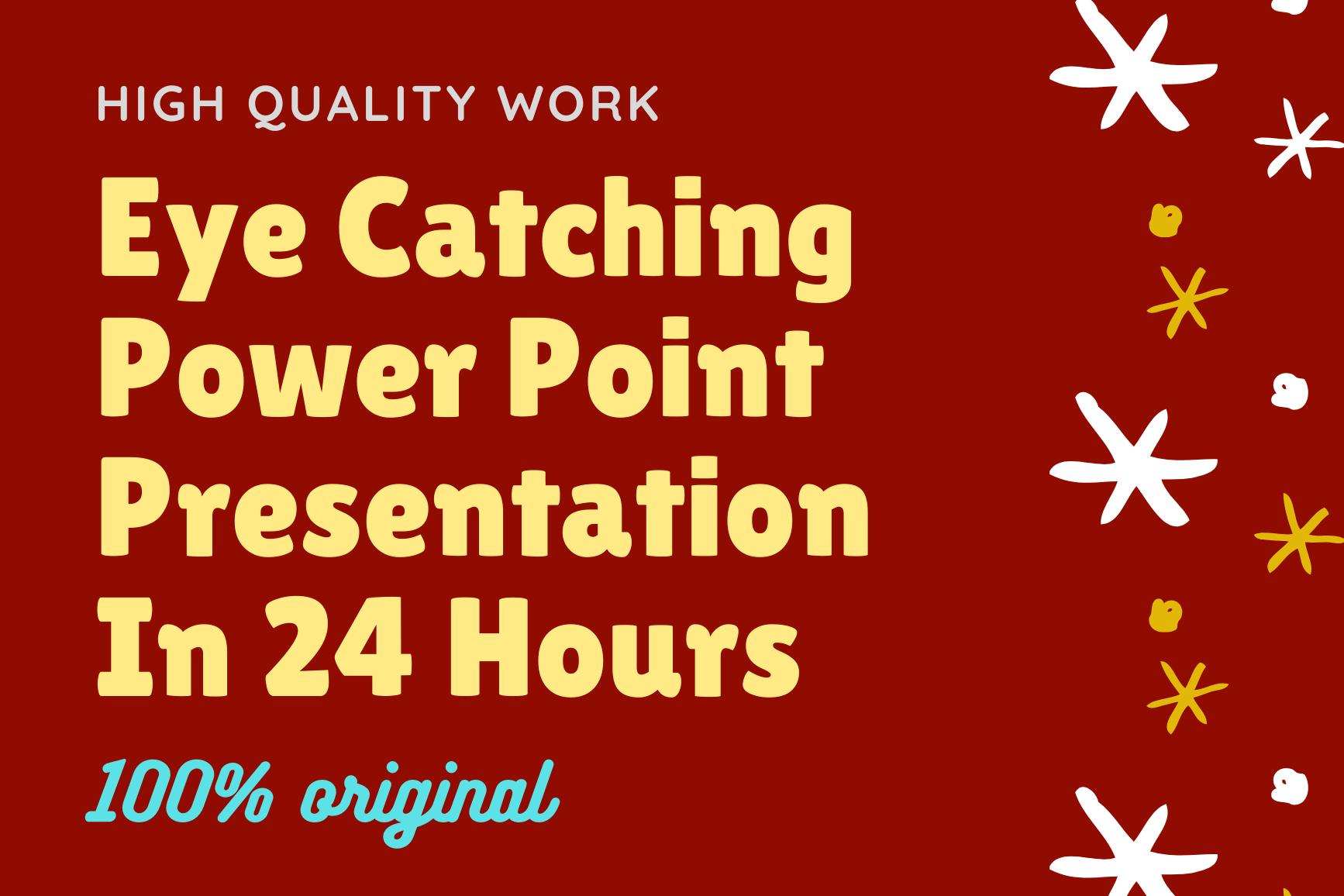 I will design original eye catching power point presentation design
