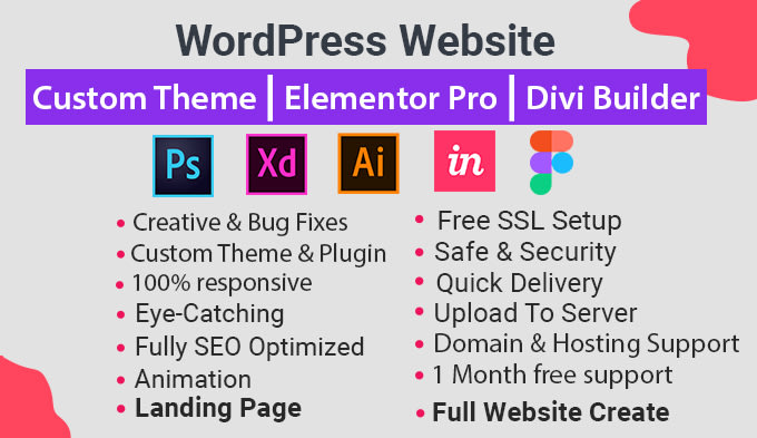 I will design professional and responsive WordPress website for You