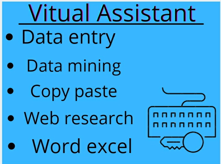 I will Do excel data entry, data mining, copy paste, web, form filling