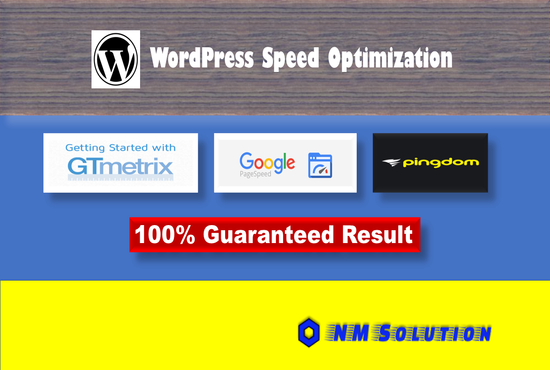 I will do wordpress speed optimization gtmetrix google page speed