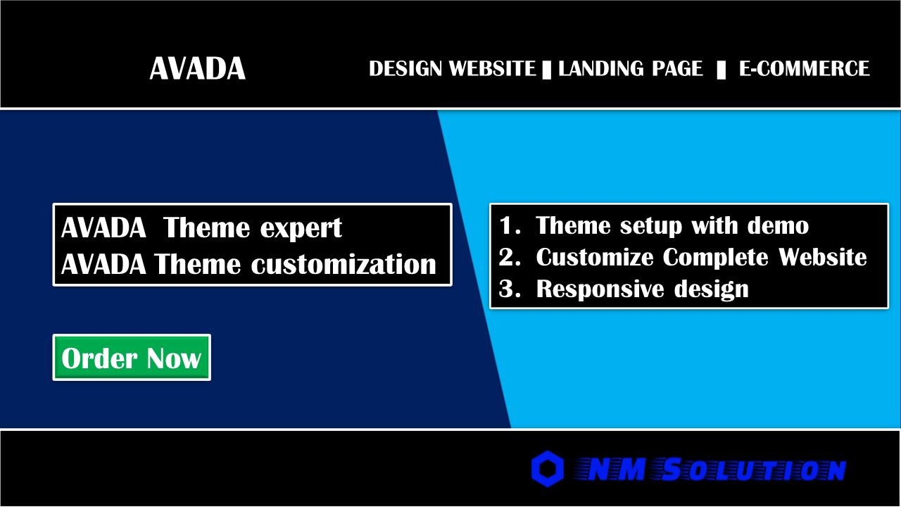I will design wordpress website with Avada theme