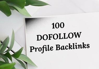 I will create 100 high Quality Do follow Profile Backlinks