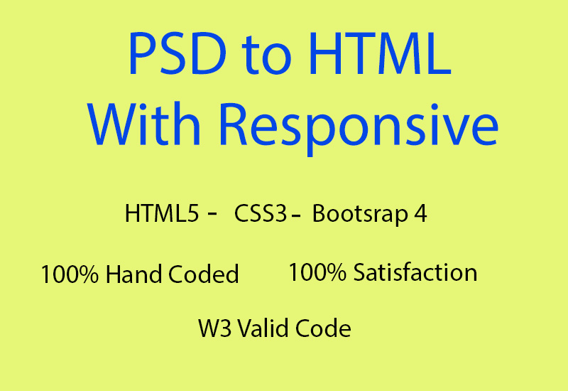 convert 1 simple psd to html code