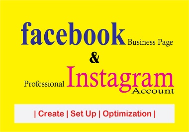 I will set up your Facebook Business Page and Professional Instagram Acc.
