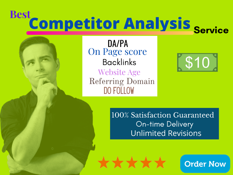 I Will do comprehensive Competitors Analysis Top 3 or 10 competitors for you