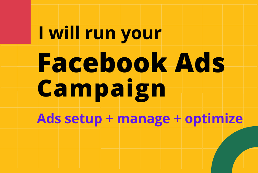 I'll run your Facebook ads campaign.
